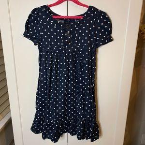 Girl's Gap Kids Buttoned Empire Puff Sleeve Dress
